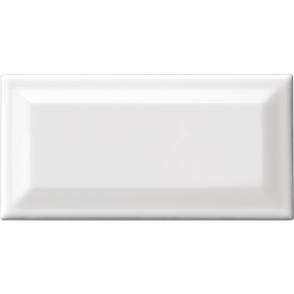 Daltile finesse bright white 3 in x 6 in ceramic beveled