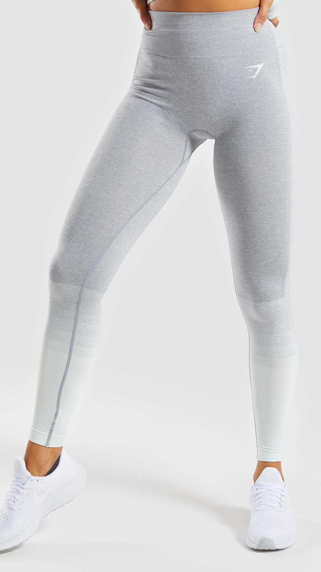 54cc289cb4f7d The Amplify Seamless Leggings, Light Grey Marl/ Seafoam Green.Accent your  shape. Amplify your style. #Gymshark #Womens #Fitness #Workout #Comfy