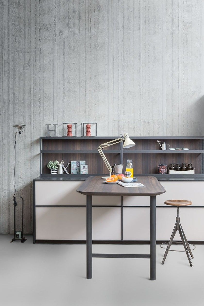 Linear fitted kitchen without handles XP/03 by Zampieri
