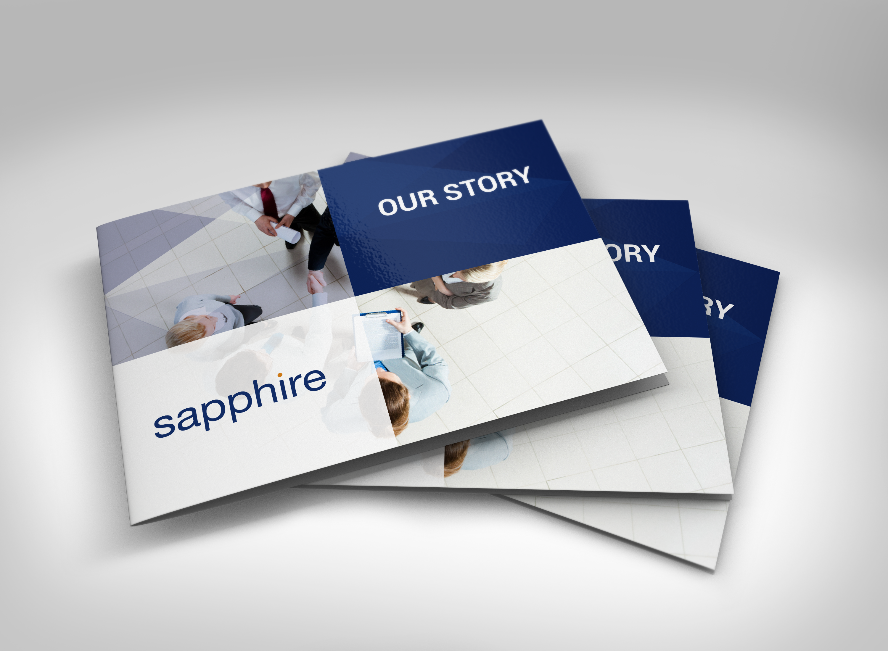 brochure design for a software company. Part of a complete re ...