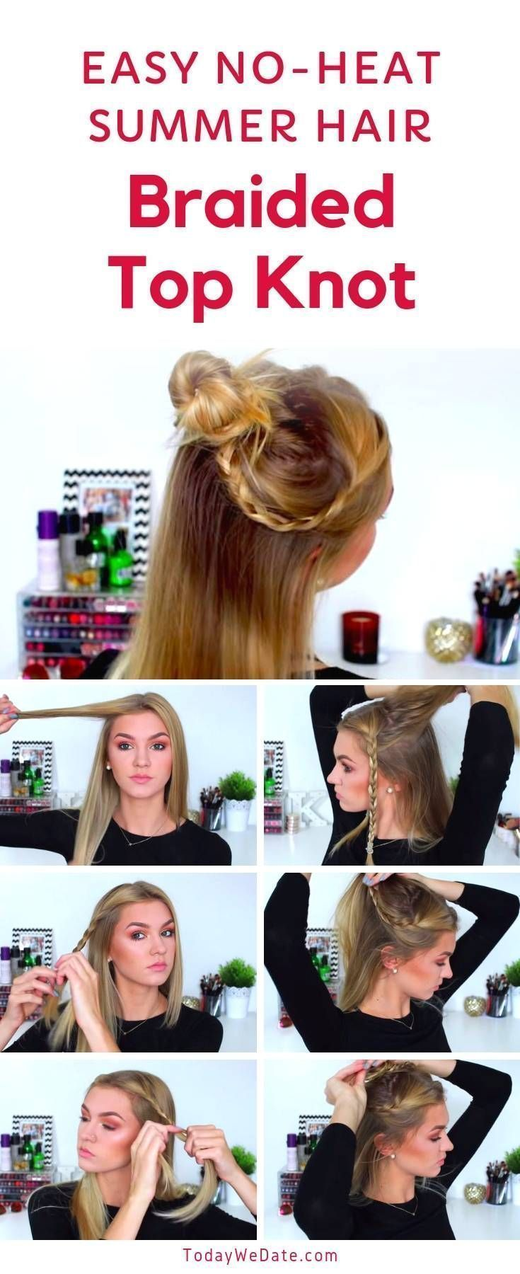 Hair Styles For School 7 Noheat Easy Summer Hairstyles Anyone Can Pull Off In 5 Hair Styles For School 7 Noheat Easy Summer Hairstyles Anyone Can Pull Off In 5 Hair Style...