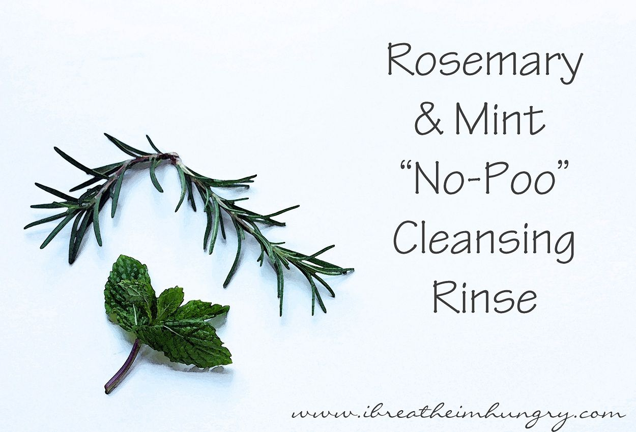 """I Breathe... I'm Hungry...: Foodless Fridays - Rosemary & Mint """"No Poo"""" Hair Cleansing Rinse"""