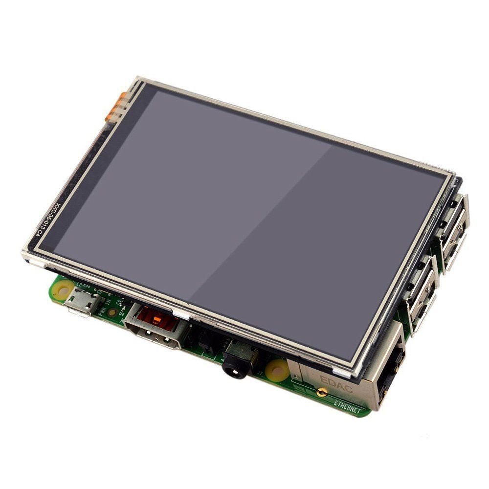 Raspberry Pi 3 Model B Board + 3.5 TFT Raspberry Pi3 LCD Touch Screen Display with Stylus + Acrylic Case + Heat sinks kit #touchscreendisplay