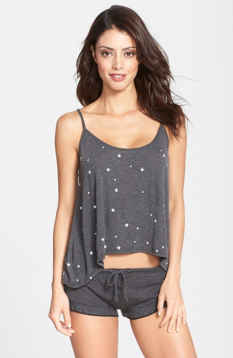 d67528e1aa85 Free shipping and returns on Wildfox 'Sleepover' Camisole & Shorts Pajama  Set at Nordstrom.com. <p>A drapey shark-bite-hem camisole paired with  cheeky ...