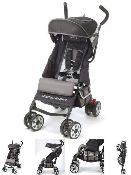 Grey All-Weather Umbrella Stroller w/ Storage Basket Large Canopy w/ Window - Shop Baby Products  sc 1 st  Pinterest & Jeep Umbrella Strollers | Baby shower gift ideas | Pinterest ...