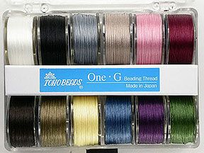 One G Thread - 12 Bobbin Pack -- maybe I should try this instead of wildfire & fireline; wonder whether it frays like nymo