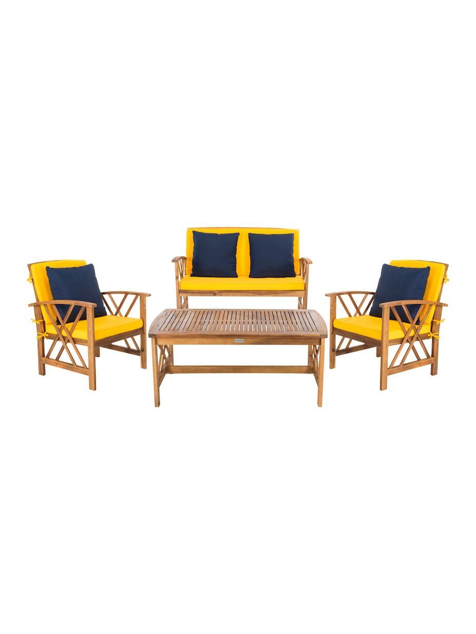 Safavieh Fontana Outdoor Set (4 PC), #Safavieh, #Outdoor ... on Safavieh Outdoor Living Fontana id=63182