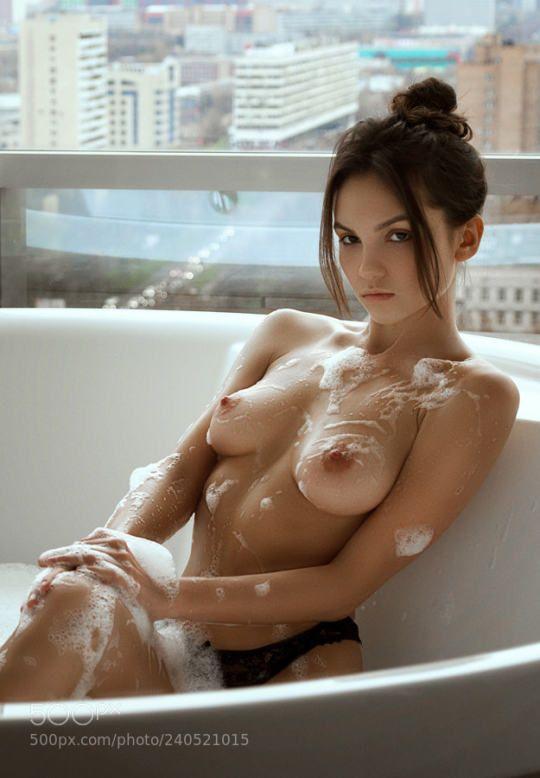 Hot girls bath room sex toys fun threesome 10