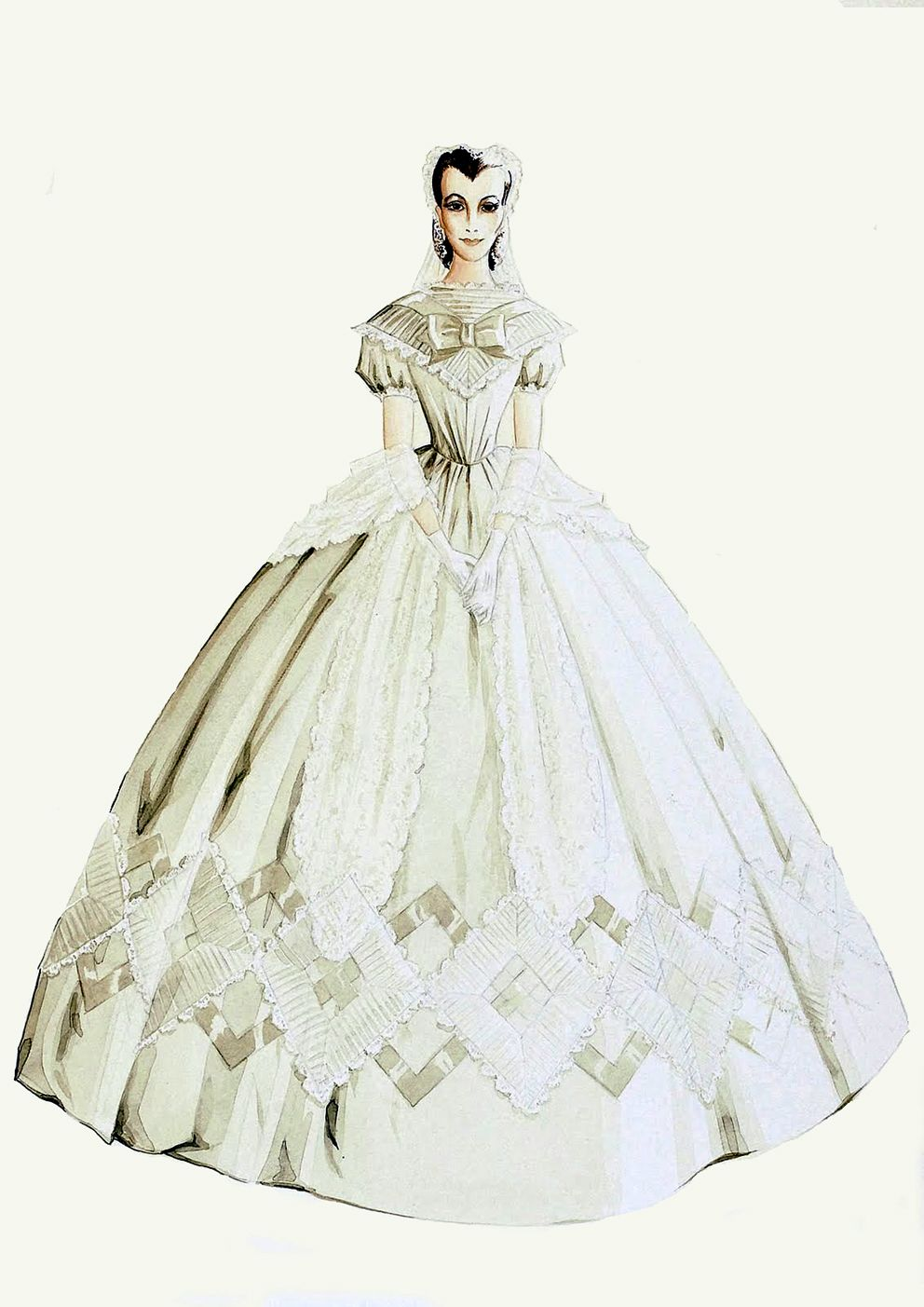 walter plunkett costume sketches for gwtw - Google Search | Gone ...