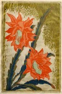 Dutch & German woodblock print--cacti