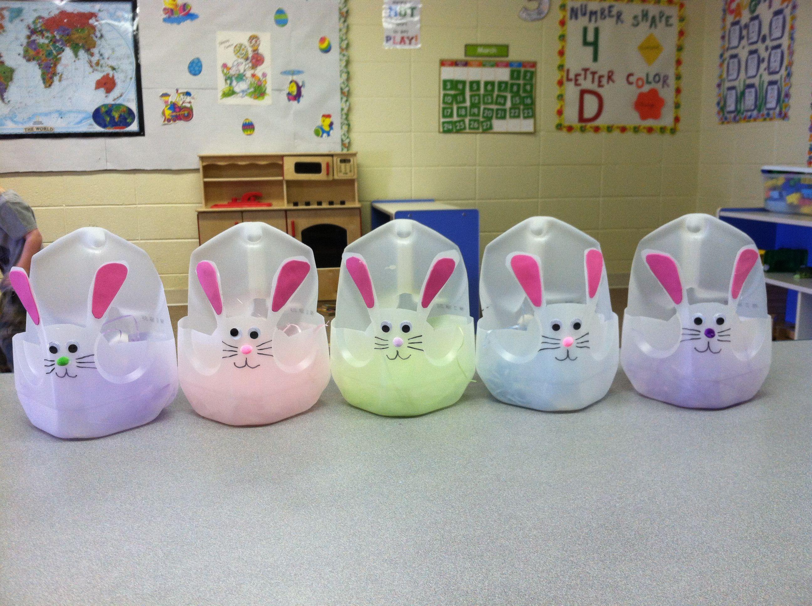 Preschool Art Easter Basket : Easter baskets my toddlers made in preschool out of milk