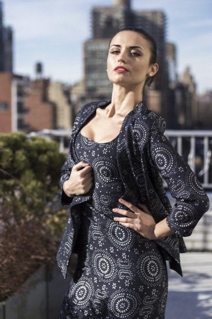 Laser Cut Wool Dress