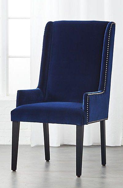 Reynolds Navy Velvet Chair Navy Velvet Chair Velvet Wingback