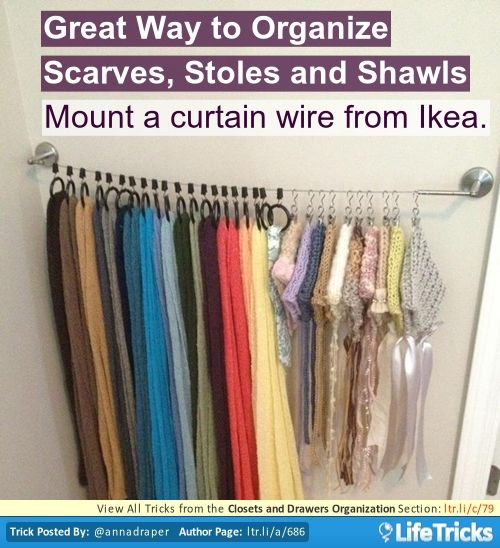 Closets And Drawers Organization Great Way To Organize Scarves