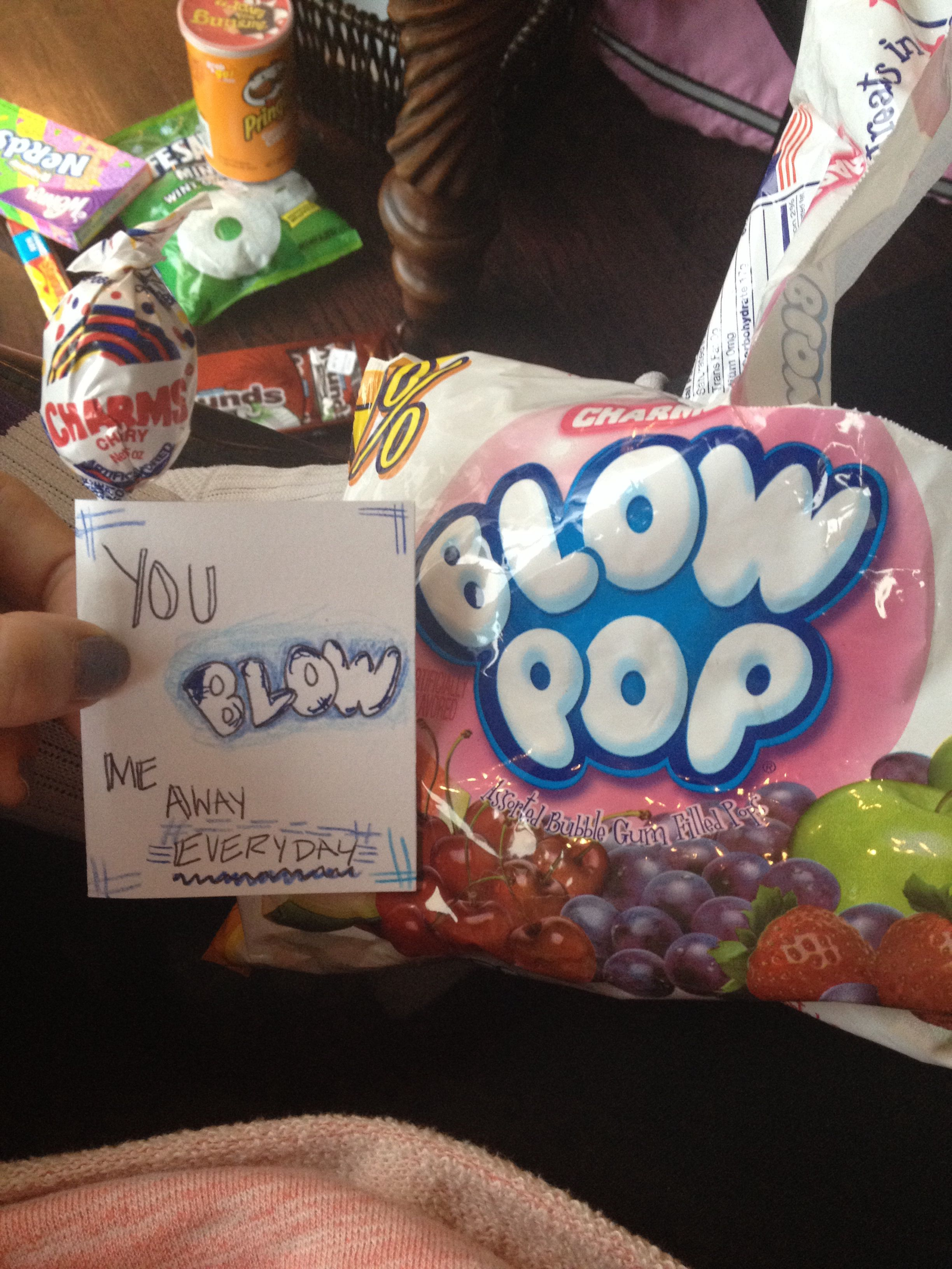 Blow Me Away Care Pack Blow Pops Long Distance