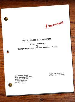 how to write a screenplay free webinar download freebies