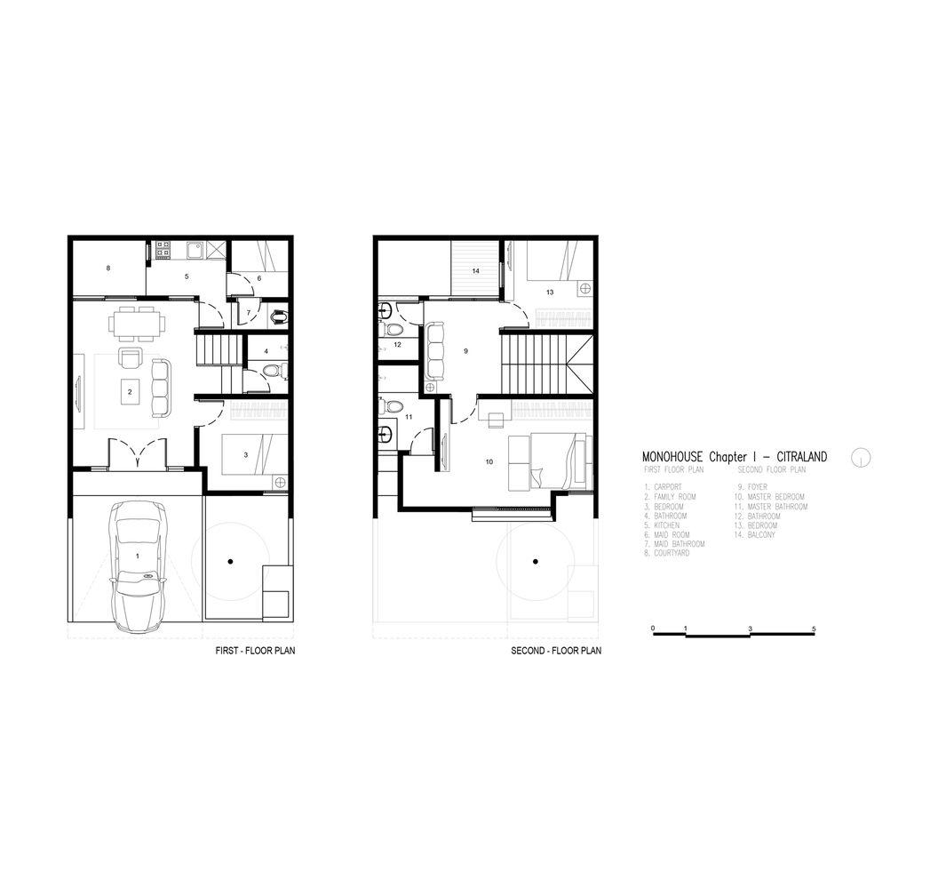 Gallery Of Monohouse Chapter I Monostudio 18 Minimal House Design Modern Small House Design Small House Design Plans