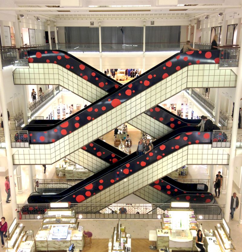 japanese event in paris grand magasin le bon march 2014 escalators design s par andr e putman. Black Bedroom Furniture Sets. Home Design Ideas