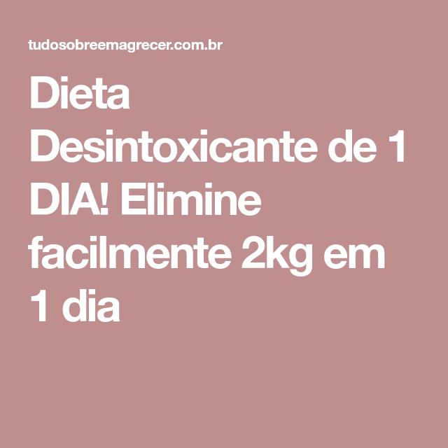 Dieta desintoxicante 1 dia