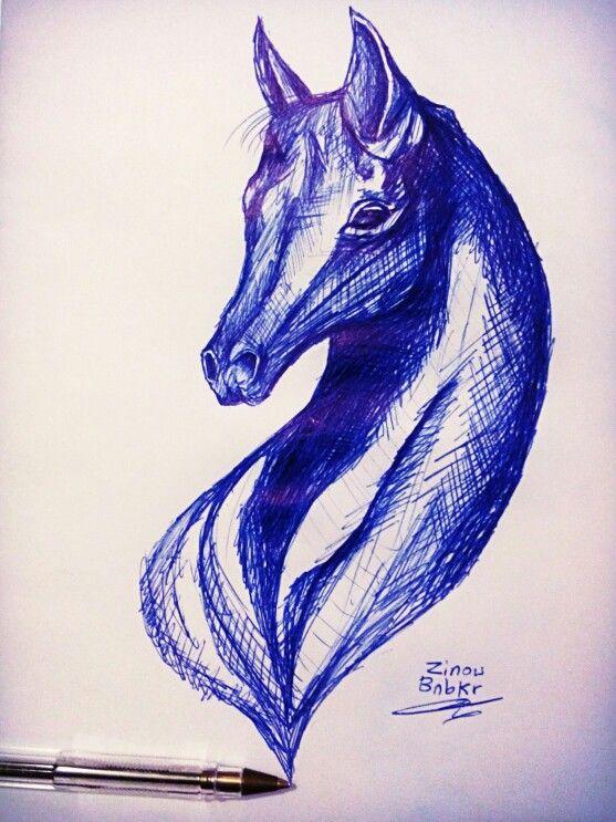 حصان Horse Cheval رسم حصان Drawing Art Drawings Animal Tattoo Art