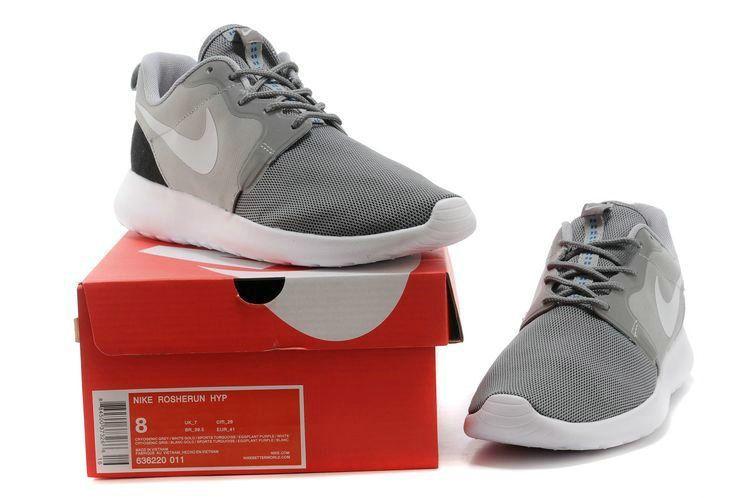 New 2018 Nike Roshe Run Hyperfuse Mens Light Cool Grey Carbon Black 636220  011 d91b1efab1f2