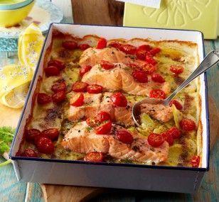Photo of #potato salmon gratin # salmon gratin #free #dill cream #k -…
