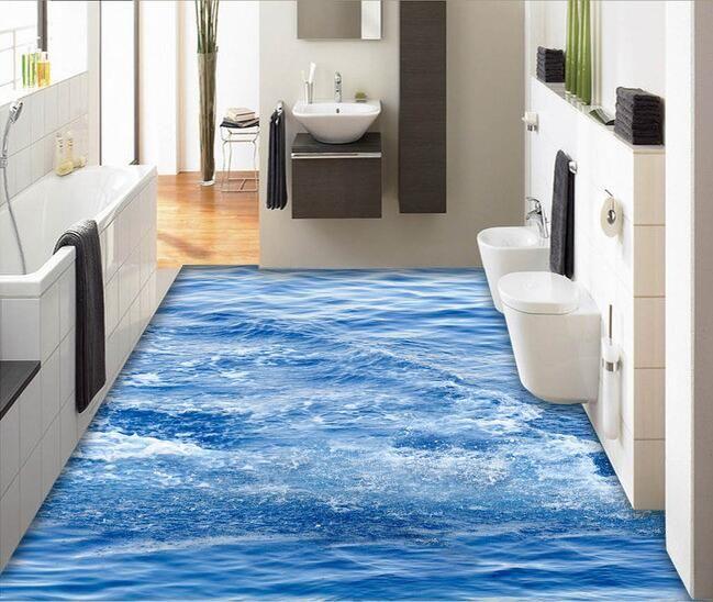 3d pvc flooring Waterproof 3d bathroom flooring The ...