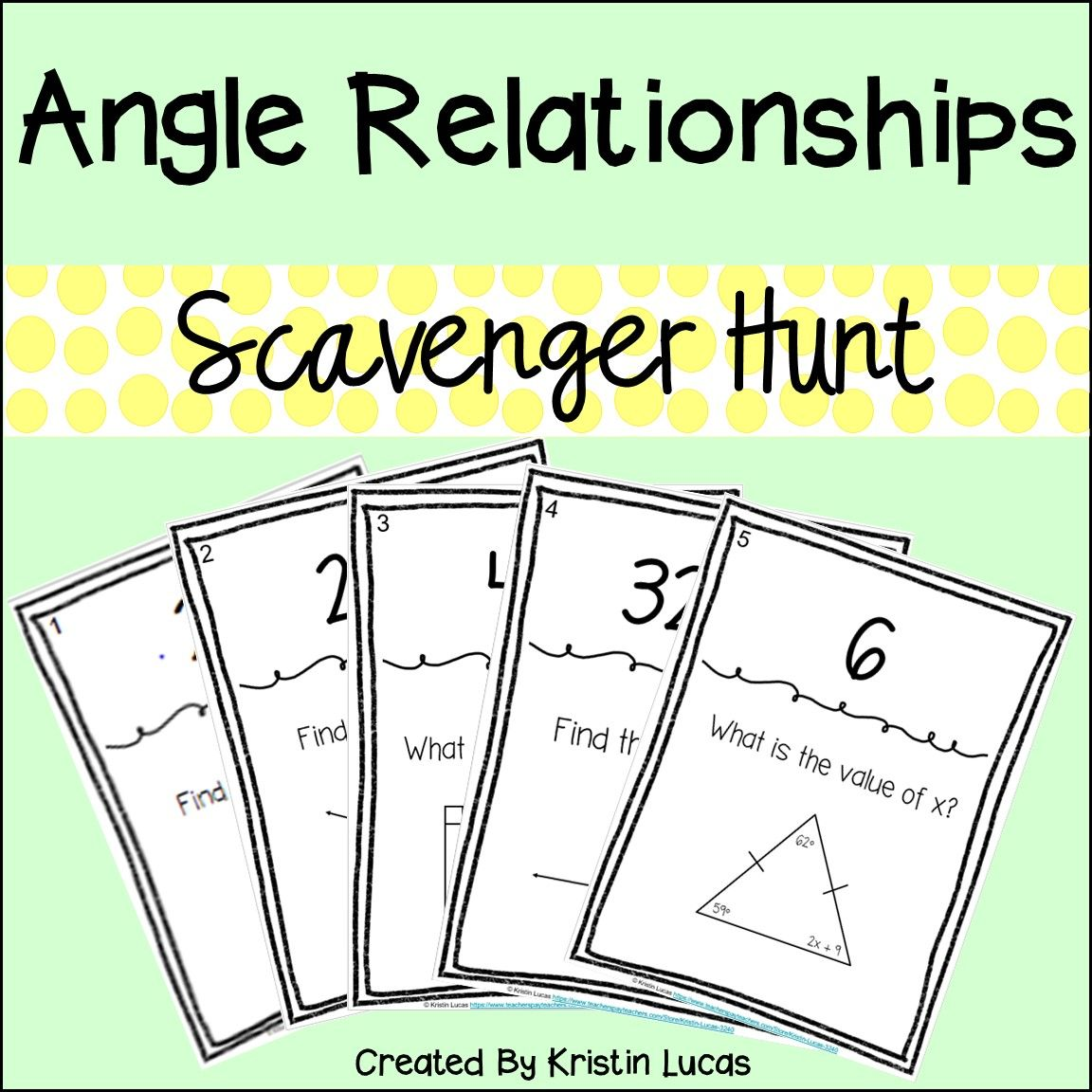 Angle Relationships Scavenger Hunt Teks 7 11c Dengan