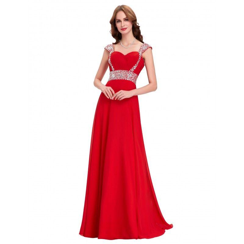 c3f962ddd42a Červené spoločenské šaty CL4446