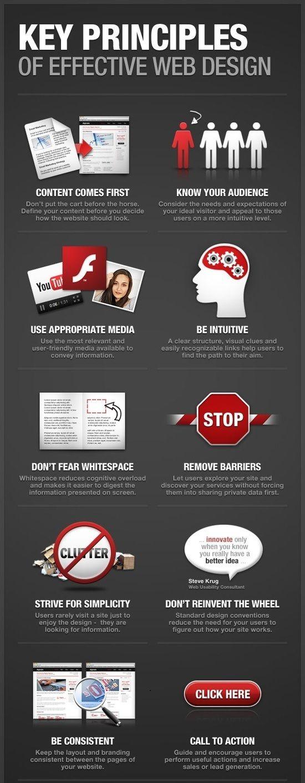 Infographics Ui Design Et Web Design: Key Principles Of Effective #Web #Design