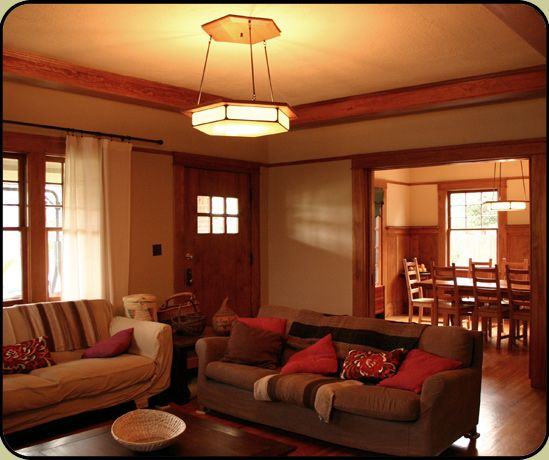 Craftsman Style Lighting In A 1930 S Bungalow Craftsman Living