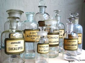 Vintage apothecary jars, via Russell Johnson Imports
