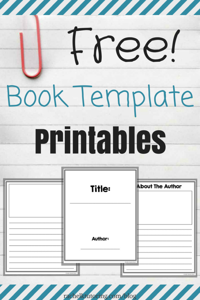 free book template printables thirdgradetroop com pinterest