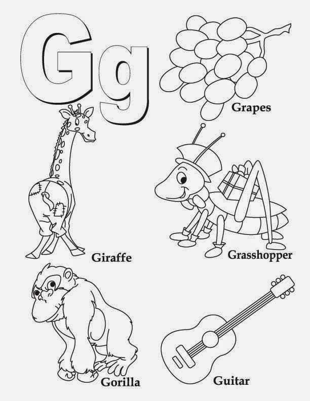 Alphabet Letter G Worksheet Alphabet Coloring Pages Preschool