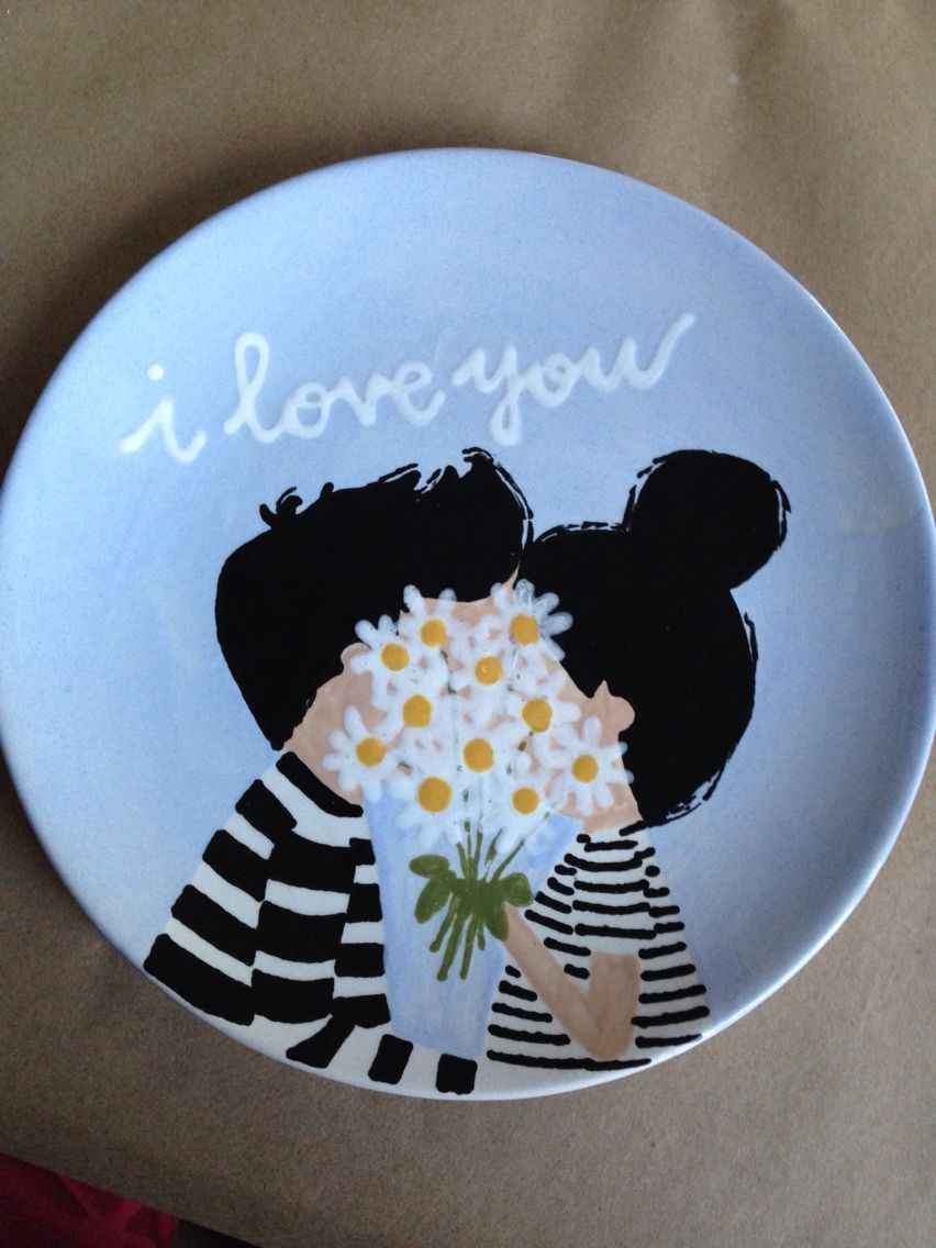I love you plate                                                                                                                                                                                 More #ceramiccafe I love you plate                                                                                                                                                                                 More #ceramicpainting