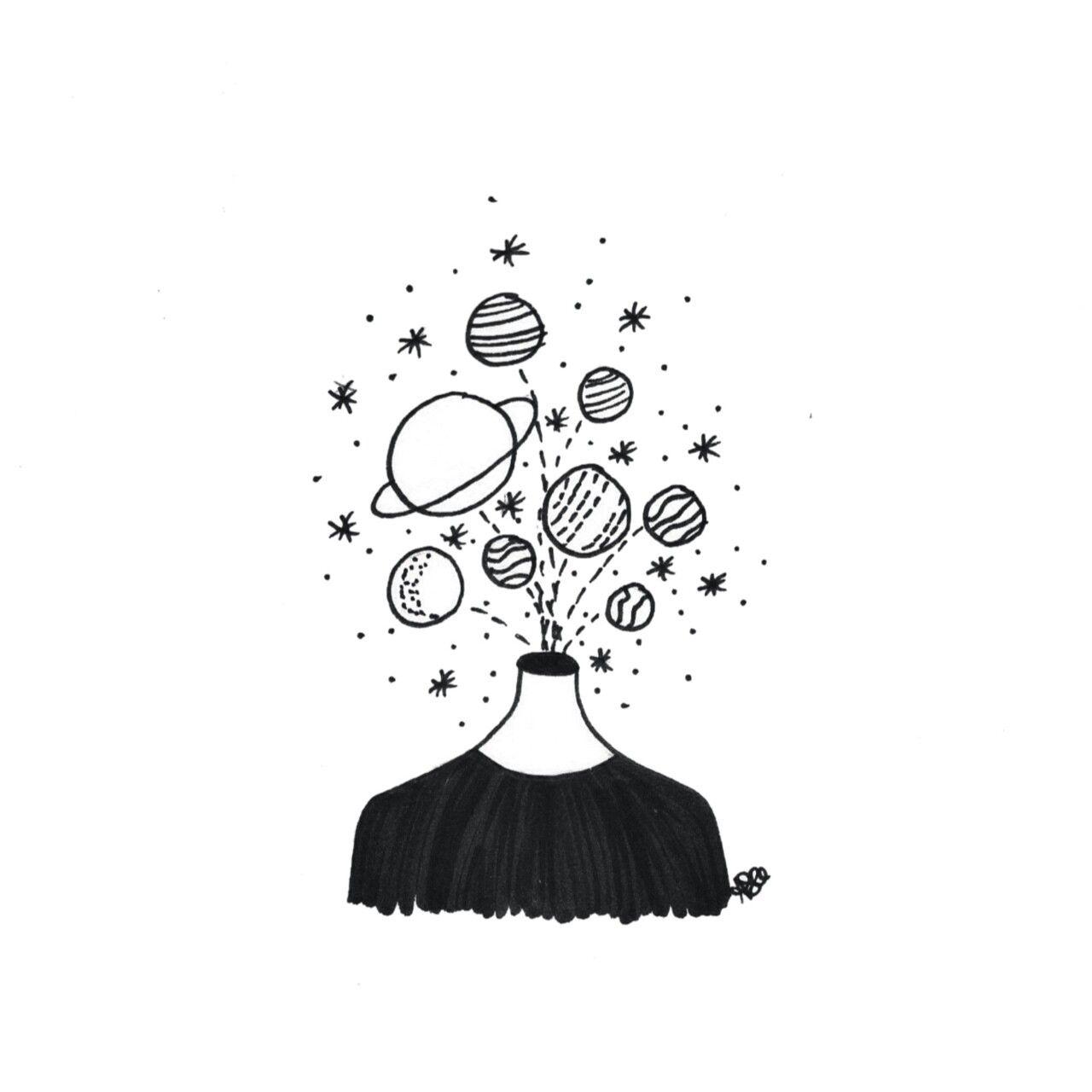 Pin By Cami On Cizim Tumblr Art Space Drawings Tumblr Drawings