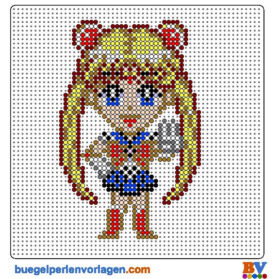 Sailor Moon Bügelperlen Vorlage