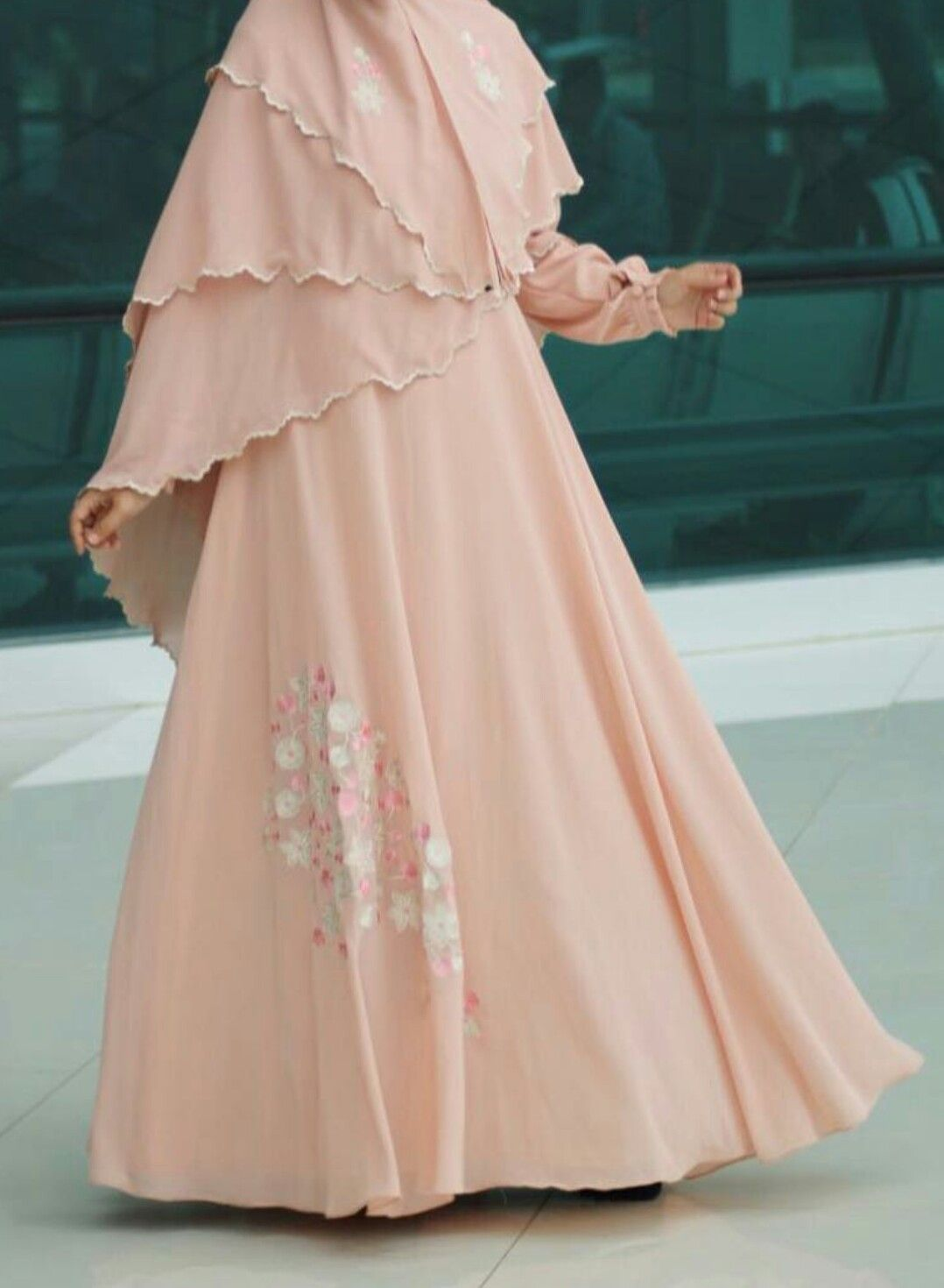 Gamis modern dress coklat muda pinterest modern abayas and niqab