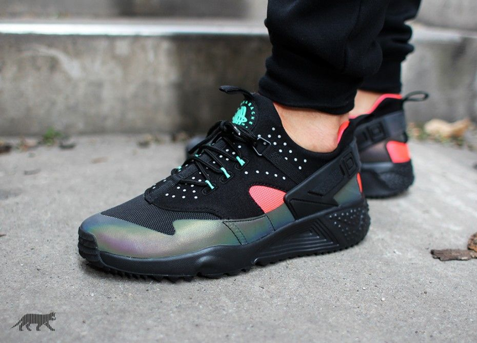 "promo code bf7b2 f1389 Nike Air Huarache Utility PRM ""Hologram""Colors  Black Bright Crimson  Release Info  October 2015 Like and Reblog if you would rock these Nike Air."