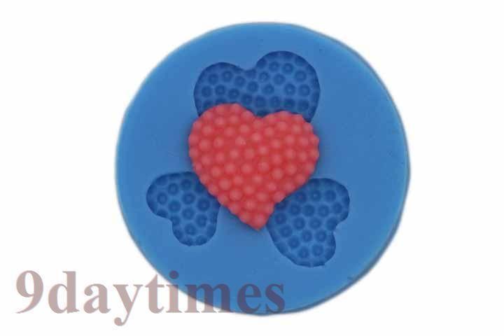 Mini Heart Silicone Mold For Polymer Clay Embellishmen Scrapbook 25, 20
