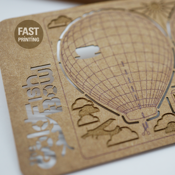 Laser Cutting on Craft #FPcards #fastprinting
