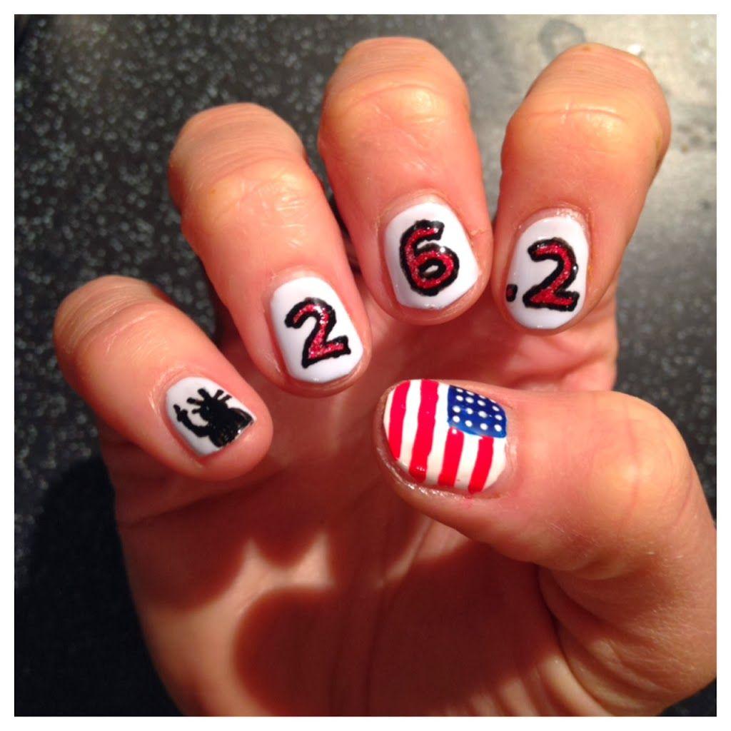 New York Marathon Nail Art - The Runner Beans | Htown nails ...