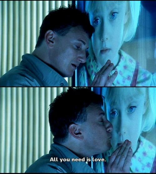 I Am Sam 2001 All You Need Is Love How Can We So Different But So Much Alike Lucy Said To Sam Film Movie Movie Quotes Movie Scenes