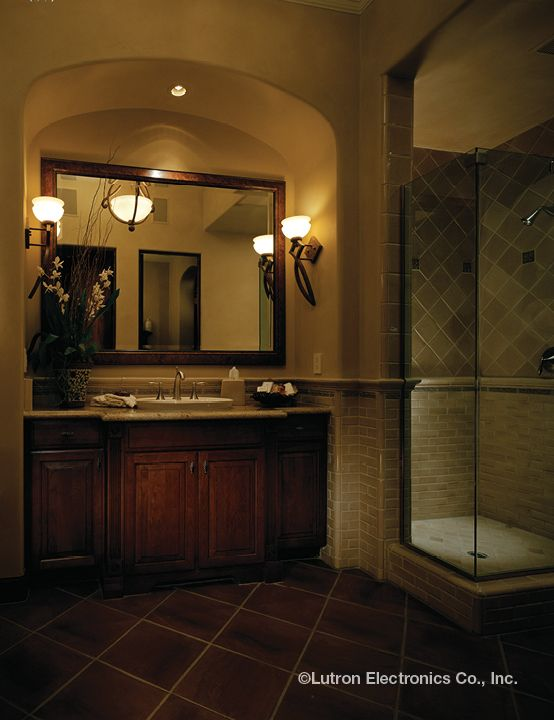 Showcase any space with beautiful lighting options. | bathroom ...