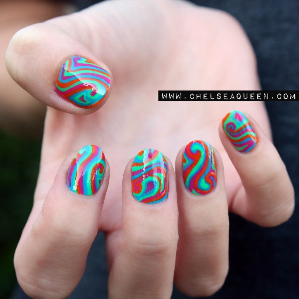 Psychedelic Nail Art Re Pin Nail Exchange Pinterest