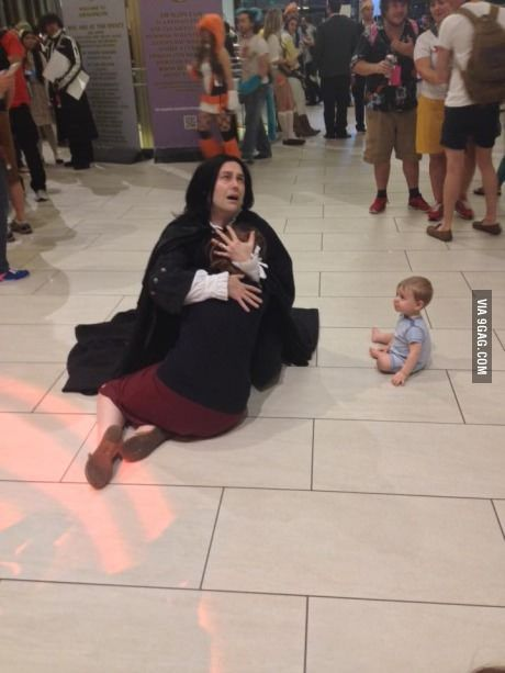 This emotional Harry Potter cosplay at Dragon Con. The baby is a nice touch.