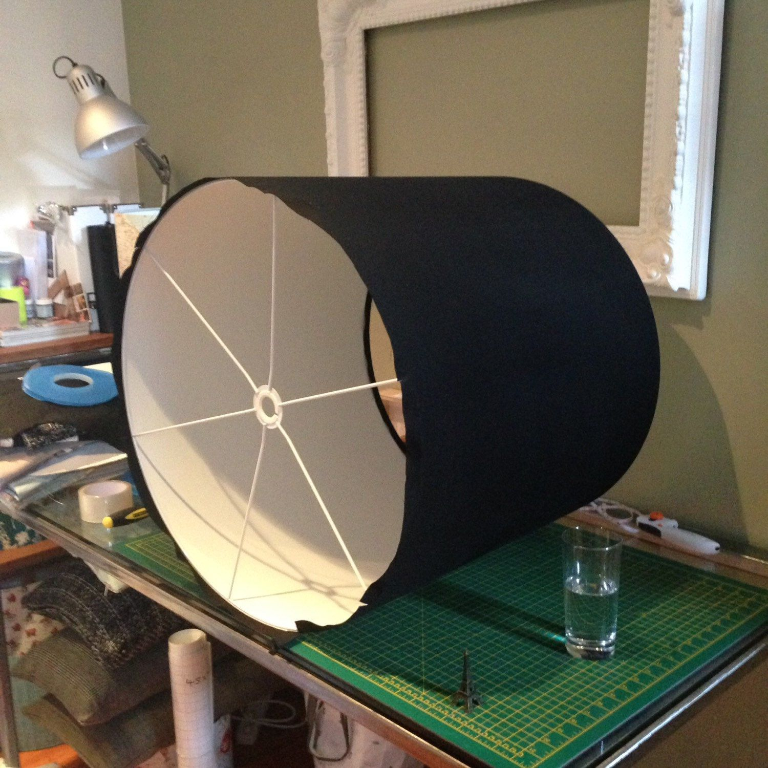 Just made this massive lampshade.