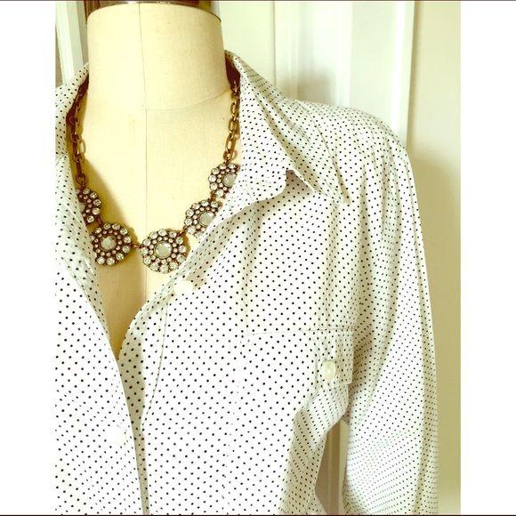 ⚡️Loft Polka Dot Blouse New listing! Great condition! LOFT Tops Button Down Shirts