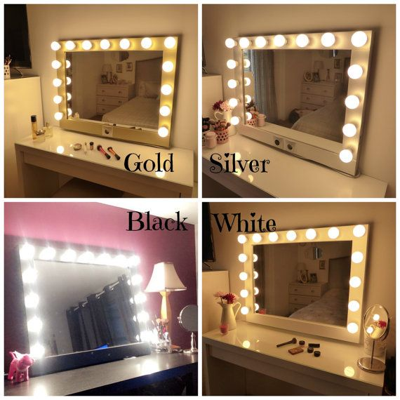 Perfect Hollywood Lighted Vanity Mirror Large Makeup By CraftersCalendar