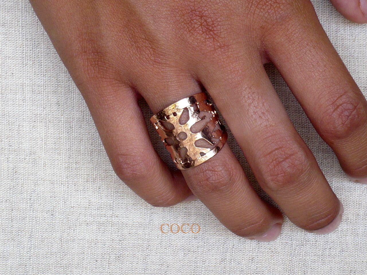 Δαχτυλίδι, ρυθμιζόμενου μεγέθους (ροζ χρυσό) Κωδικός 4119 - Τιμή 9 ευρώ